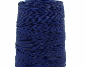 11 Yards 1mm Navy Blue Waxed Cord - Cotton Waxed Cord