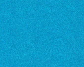 Turquoise Blue Doodles- 100% Cotton Quilting Fabric