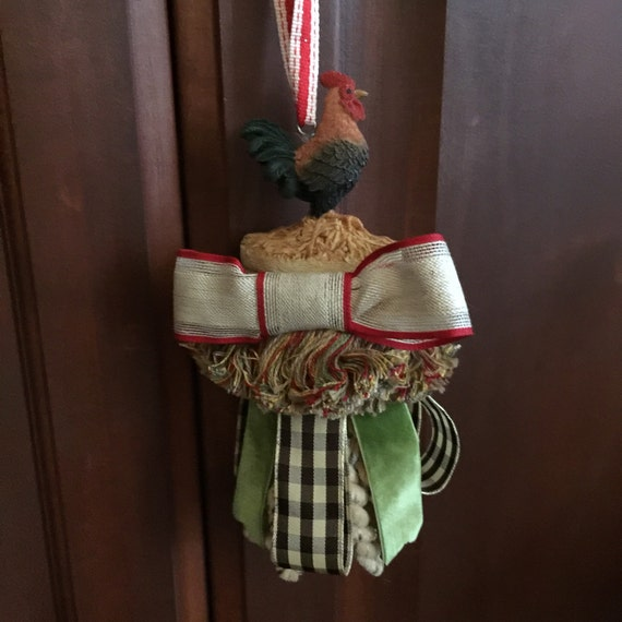 Large Tassels Home Decor: Rooster French Country Hanging Decor Kitchen Decor Tassel