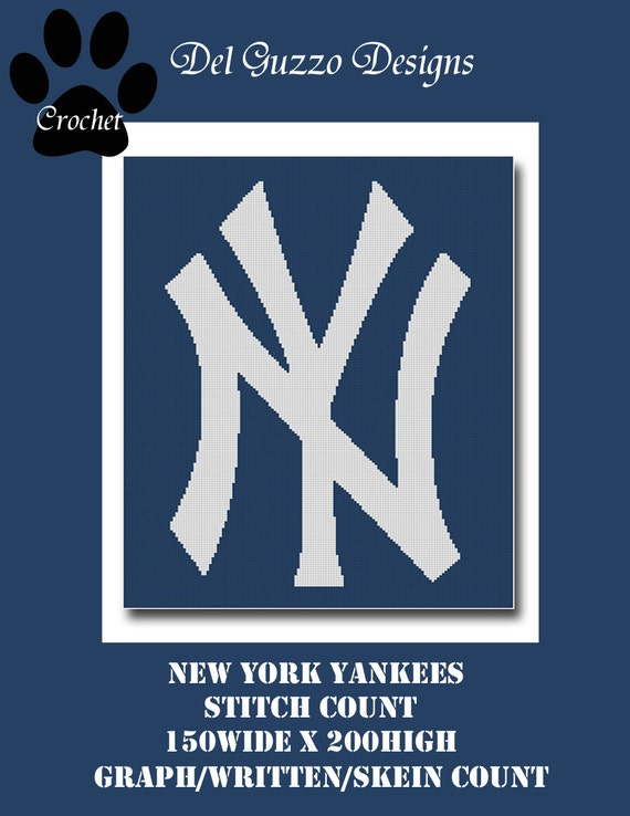 New York Yankees inspired Crochet Graph Graphghan Pattern WITH