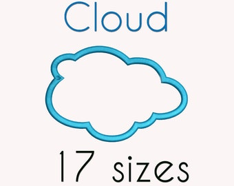Cloud Applique Machine  Embroidery Design, 17 Sizes, Clouds Digitized Pattern, DIGITAL INSTANT DOWNLOAD 114