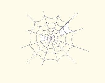 Spiderweb Machine Embroidery Design,  12 Sizes, Digitized Pattern, Digital Instant download 154