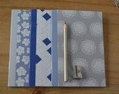 SALE: A6 Notebooks, pack of 3, blue notebooks, grey notebooks, patterned notebooks, lined paper, plain paper & square paper