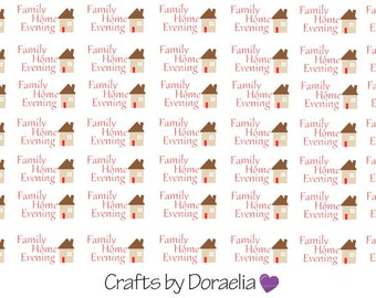 Family Home Evening Stickers, LDS Planner stickers,FHE stickers, Mormon stickers