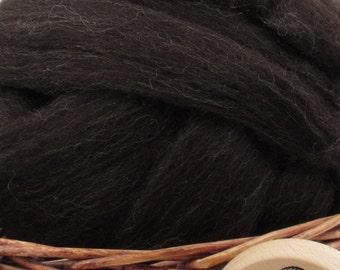 Zwartbles Wool Top Roving - Undyed Spinning & Felting Fiber / 1oz