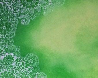 Zentangle Art - Origineel artwork - Doodle kunst - 45 x 30 cm