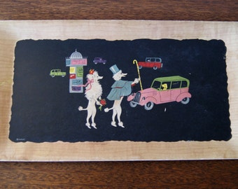 "Collectible vintage 1950's tray  - ""The Romance of Fifi and Pepe"""