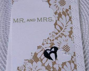 Handmade Greeting Card: Wedding