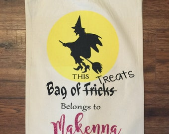 Trick or Treat bags - Witch