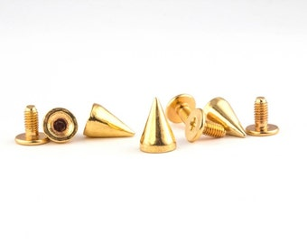 Gold short cone spike