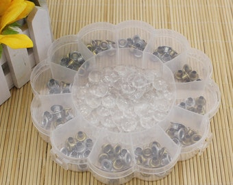 Beads/Charms Storage Containers, White Plastic 13 Compartments Storage, Jewelry Supplies.