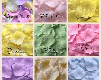 Pastel Blend Rose Petals - 1,000 Silk Rose Petals