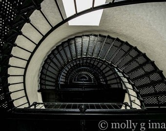lighthouse photograph spiral stairs photography 8x10 11x14 16x20