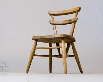 Ercol Yellow Dot Chair