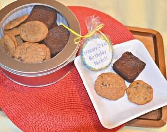Brownies, Chocolate Chip Cookies, Oatmeal Raisin Cookies, Custom Shortbread Cookie , Cookie Gift, Gourmet Cookies, Homemade Cookies,