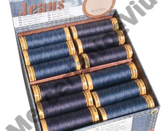 Gutermann creativ Jeans Thread 100m reel medium denim and dark denim