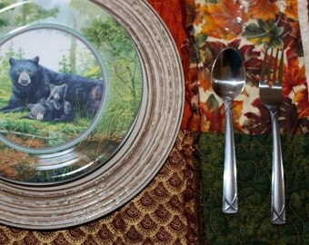 Thanksgiving Harvest Placemats + Table Runner