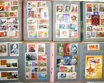 Old postage stamps made in the USSR for the centenary of Lenin's birth 1870-1970