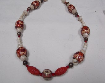 Hand made one of a kind Necklace Vintage Beads