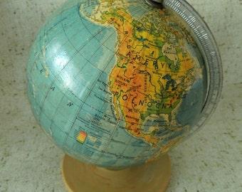 Vintage World Globe, Collectibles, Vintage Home Decor Decoration Ornament