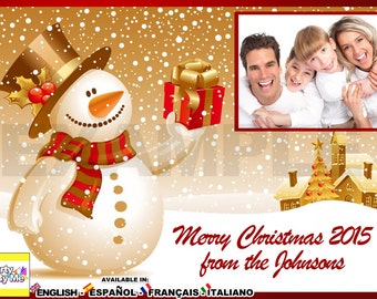 PERSONALIZED CHRISTMAS CARD with your photos and texts!!!