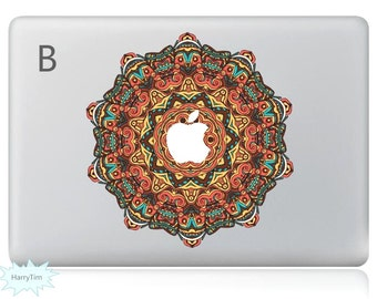 Bright Coloured Flower Decal Mac Stickers Macbook Decals Macbook Stickers Apple Decal Mac Decal Stickers Laptop Decal