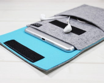 Felt iPad sleeve, iPad Air sleeve, iPad Air 2 Case, tablet Case, Galaxy Tab S3 case, iPad Pro case, iPad sleeve, iPad Pro sleeve, felt case