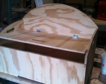 Pine plywood toy chest