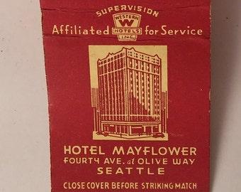 Vintage Matchbook Hotel Mayflower Seattle