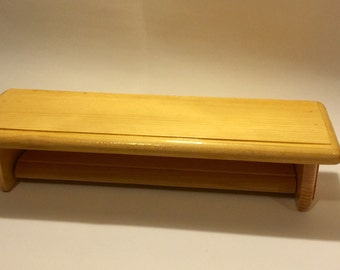 Quilt Rack - Tapestry Shelf - Quilt hanger with Shelf - Pine- ready to ship - free domestic shipping