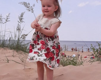 Linen & Cotton Girls Dress