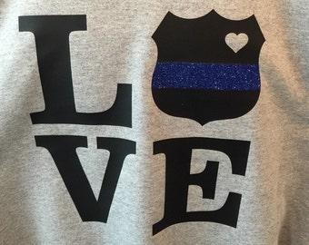 Police wife shirt police mom shirt police girlfriend shirt new