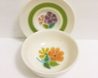 Franciscan Earthenware Bowl and Saucer