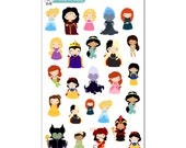 DisneyPrincess and Villains Stickers - Disney Planner Stickers
