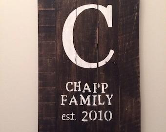Custom Family Name Signs