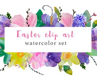 Easter clip art set, for personal and small commercial use