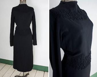 Dark Magic Little Black Dress | 1940s | Women's XS