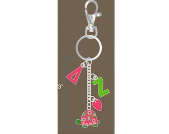 Delta Zeta Keychain / DZ Keychain / Big Little Gift / Sorority Jewelry /Delta Zeta Gifts