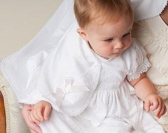 Girls Blanket 'Melissa', Girls Baptism Blanket, Girls Christening