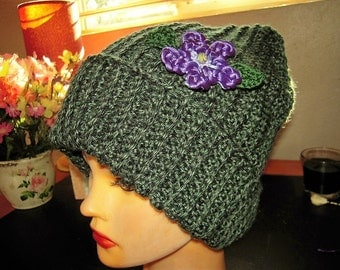 Hand crafted, crocheted, oversized Hat