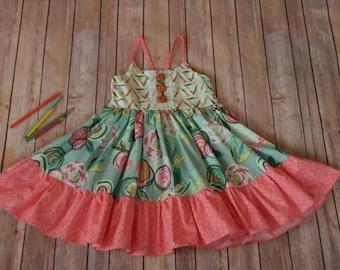 Bright Blooms dress, girls boutique dress, girls sundress, boutique clothes, girls dress, summer girls dress