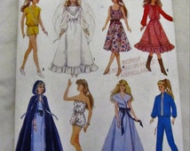 Simplicity #8333 Barbie Pattern   1987   Complete  UNCUT   FREE shipping