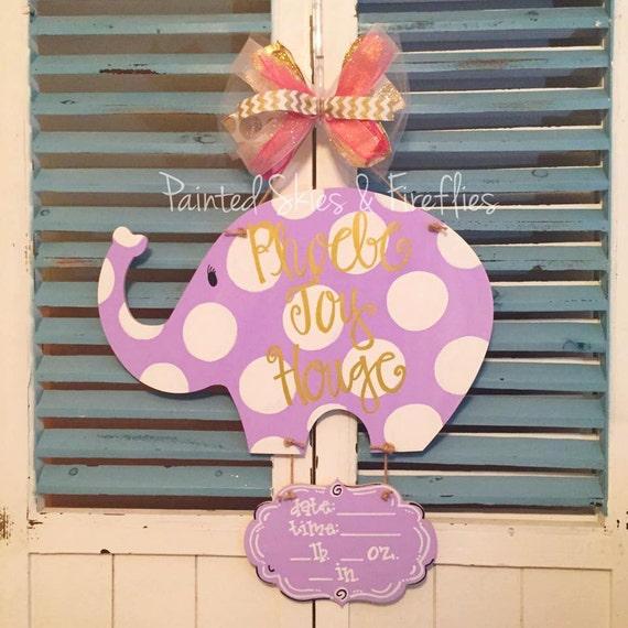 Hospital door hanger boy girl wooden birth by for Baby boy hospital door decoration