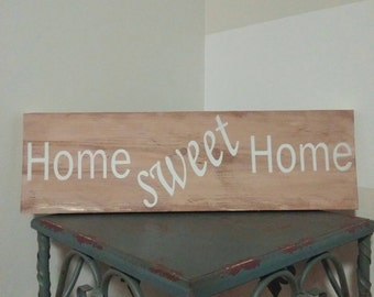 Home sweet home Rustic Wood Weathered Sign - Home decor - Wood Wall Art