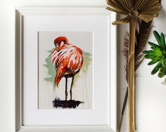 Pink Flamingo Art - Abstract - Flamingo Painting - Spread Your Wings Collection