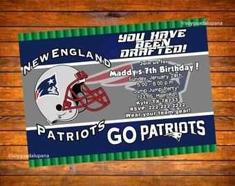 New England Patriots Personalized Invitation - Digital Download