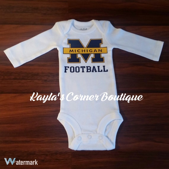 College Football Baby Clothes Christmas Gift Michigan