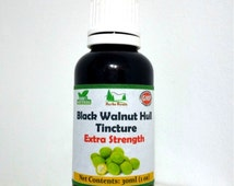 Green Black Walnut Hull Tincture - Extra Strength - Non Alcoholic - FREE SHIPPING - 50% OFF