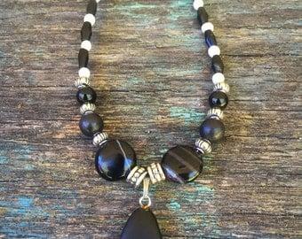 Black Magic Necklace- Onyx- Halloween Collection- Gemstone Jewelry