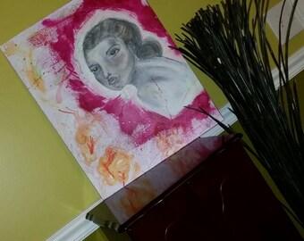 16x20 flat canvas: mindful decor painting